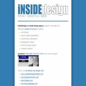 iNSIDEdesign web design