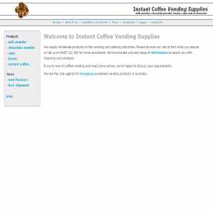 Instant Coffee Vending Supplies