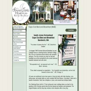 Cape Cod bed and breakfast lodging