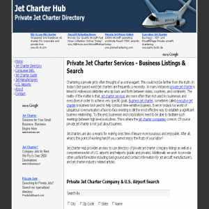 Jet Charter hub