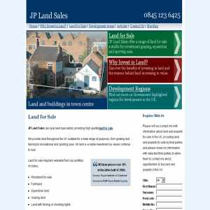 Investment Land for Sale UK