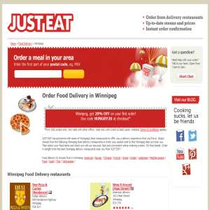 Just Eat Restaurants Winnipeg