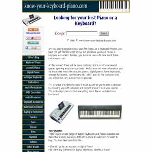 Buy your first keyboard or a Piano
