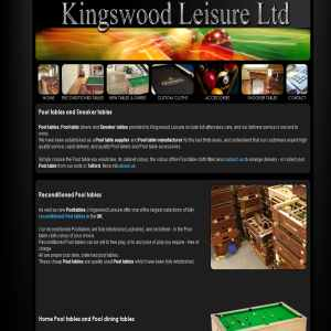 Pool tables - Kingswood leisure