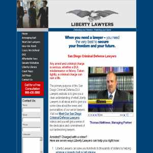 San Diego Criminal Defense Lawyers DUI Attorney at Liberty Lawyers
