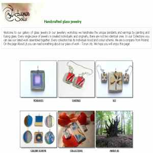Glass jewelry | hand made pendants and earrings