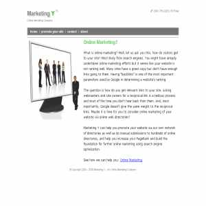 Online Marketing – Marketing Y