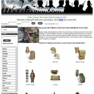 Online sale of Military Tactical gear