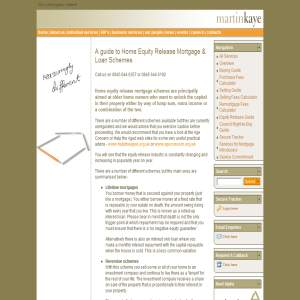 Home Equity Release Mortgages