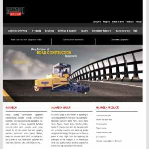 Manufactures road construction equipment & machinery