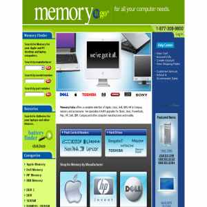 System memory, hard drives & flash memory by MemorytoGo.com