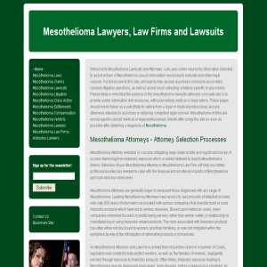 Mesothelioma Lawyers - Guide to Attorney Selection
