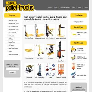 Pump Trucks, Pallet Trucks & Lift Tables
