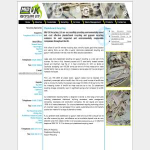 Plasterboard & Gypsum Recycling