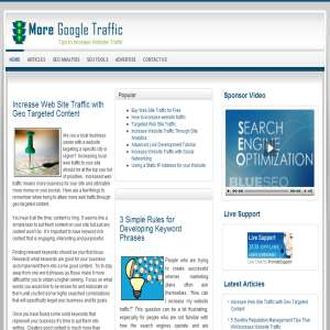 More Google Traffic