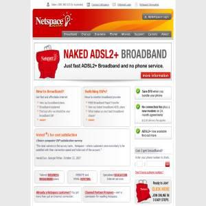 Netspace - Broadband, Naked DSL, ADSL2