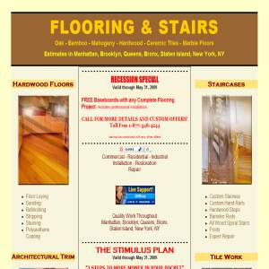 New wood Floors & Stairs Brooklyn New York