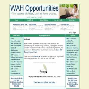 WAH Opportunities
