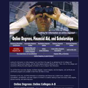 Online Degrees & Scholarships