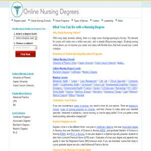 Online Nursing Degrees