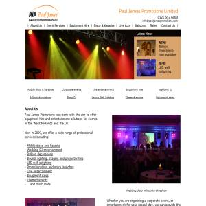 Paul James Promotions - Mobile Disco Services