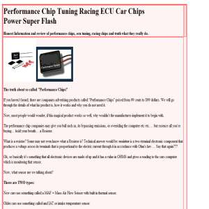 Performance Chips