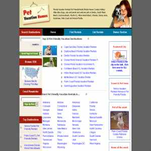 Pet Vacation Home Rental Accomodations