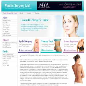Plastic Surgery List