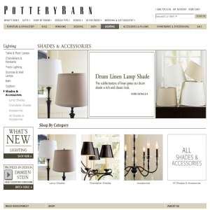 Lamp Shades from Pottery Barn