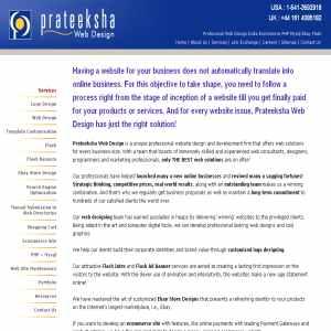 Prateeksha Web Services. Web Page Designers