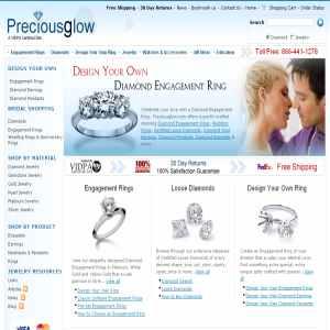 Preciousglow.com - online jewelry stores