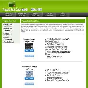 PrepaidDebitCardsnet: Prepaid Debit & Credit Cards