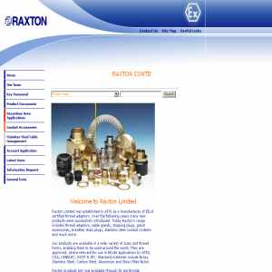 Raxton cable gland adaptors and conduit systems