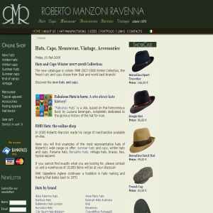 Roberto Manzoni Ravenna | Hats, Caps, Menswear