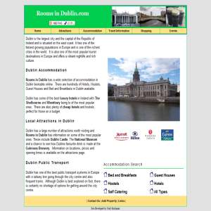 Accommodation in Dublin