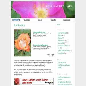 Rose Garden Care