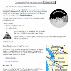 Santiam Alpine Club | Mountain Climbing & Instruction
