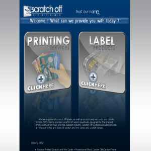 Scratch Off Systems