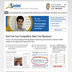 Small Business Web Site - Local Search Engine Traffic