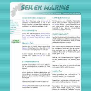 Seiler Marine Outboard Parts