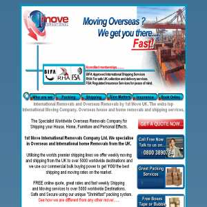 1st Move Overseas Shipping www.shipit.co.uk