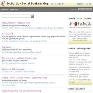 Bookmarking in Denmark. Bookmark & Share