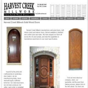 Wood Doors by Harvest Creek Millwork