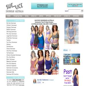 Sue Rice Plus Size Swimwear