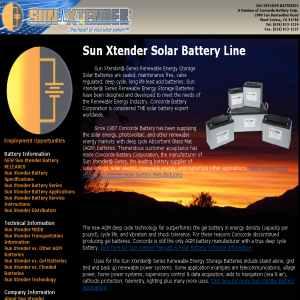 Solar Batteries - Sunxtender.com