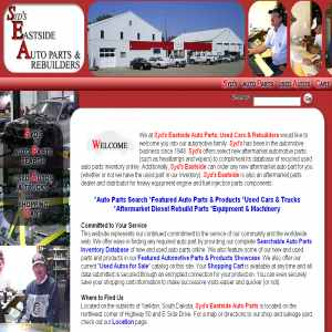 Syds Eastside Auto Parts, Cars, Trucks & Rebuilders
