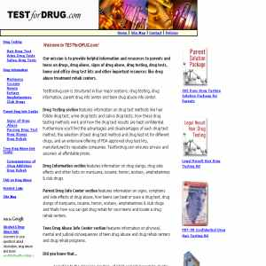 Teenager drug testing kits