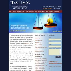 Texas Lemon Law - Law Offices of Kevin Le, PLLC