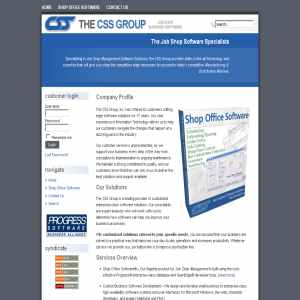 Job Shop Software from The CSS Group, Inc.