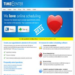 TimeCenter Online Scheduling Software